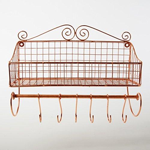 Mensola da parete in ferro e rame, utile come portaspezie