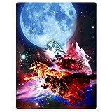 Dick Manta Suave calor gemütlich franela polar de sofá Manta Tapa de luna de Nebulosa Galaxia...