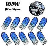 10x W5W 12V T10 W2.1x9x5d Blue Vision Super Weiß Original Jurmann Trade Ersatz Halogen Birne für Standlicht Positionslicht Bremslicht Hecklicht Innenlicht Leselicht Blinker seitlich E-geprüft