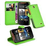 Cadorabo Hülle für HTC Desire 310 - Hülle in MINZ GRÜN – Handyhülle mit Kartenfach und Standfunktion - Case Cover Schutzhülle Etui Tasche Book Klapp Style