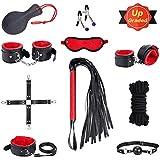 SM Bondage Set BDSM Fesselset SM Sexspielzeug Extrem Betten Fesseln mit Handschellen mit Augenmaske Erotik Für Liebhaber Paare Mann Einsteiger und Erfahr
