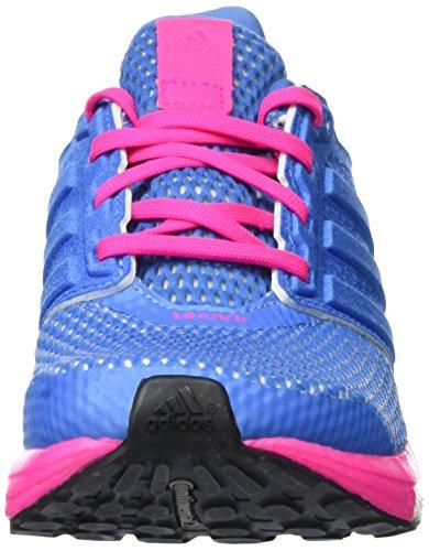 adidas Supernova Glide 8 Chill W, Chaussures de Running Entrainement Femme Bleu (Super Blue/Super Blue/Shock Pink)