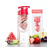 Infruition Sport Fruit Infused Water Bottle - 700ml - Fire Red
