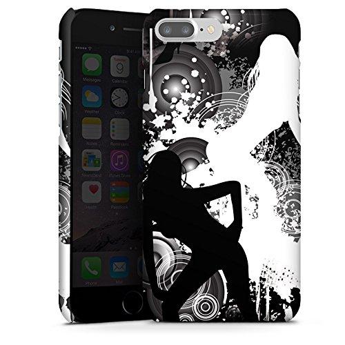 Apple iPhone X Silikon Hülle Case Schutzhülle Kreise Silhouette Frau Premium Case glänzend