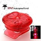 A-szcxtop One Paar Wasserdicht Laufschuh Clip LED-Lichter für Laufen und Sicherheit in der Dunkelheit mit 3Farben zu kostenlosen Match, rot