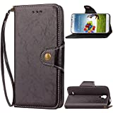 Samsung Galaxy S4 I9500 Holster Case Flip, Codream Cover Suit Premium Vertical Leather Pouch Sleeve Carrying Case Design With Card Slot Holster For Samsung Galaxy S4 I9500 (Black)