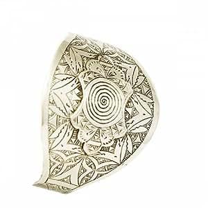 Bijoux bracelet argent 800/1000 large ciselé, bijoux berbères
