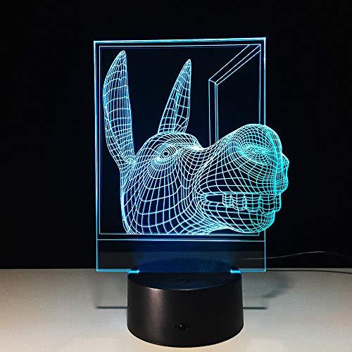 Baby Teddybär Halten Liebe Herz Ballon 7 Farbwechsel Tischlampe 3D Led Nachtlicht Dekor Urlaub Geschenk Für Kinder Fernbedienung -