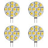 SEBSON 4 x Ampoule LED 2.5W (remplace 20W) - Culot G4 - Angle du faisceau 110° - Blanc chaud - 200lm