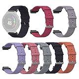 xue binghualoll Woven Fabric Watch Band WristStrap für Garmin Forerunner 220 230 235 630 620 735