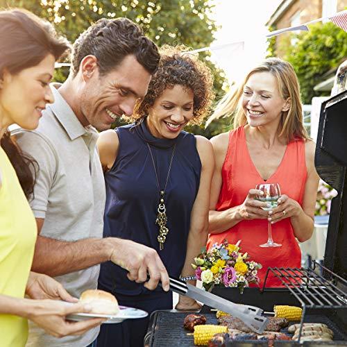 51KUQB8aXdL - Tencoz Grillbesteck, BBQ Grillzubehör 20 Set, Barbecue Grillen Werkzeuge Koffer aus Edelstahl mit Wärmeisolierende Griff Ideal für Outdoor Familien Garten Party