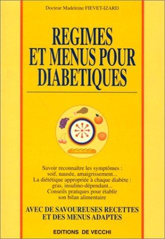 Régimes et menus pour diabétiques