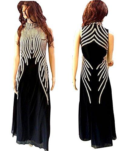 vaankosh fashion black faux georgette designer partywear dress meterials
