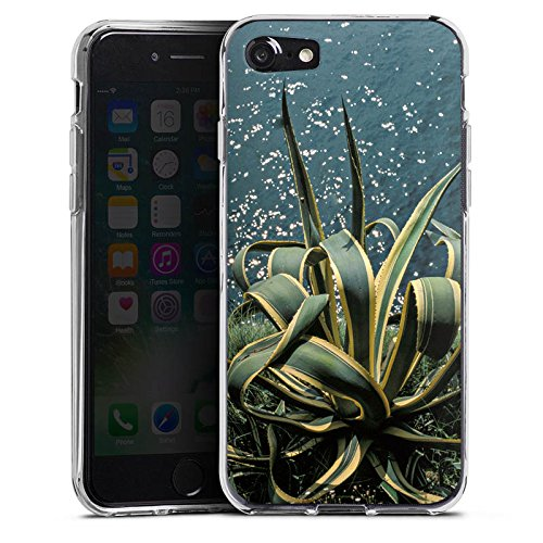 Apple iPhone X Silikon Hülle Case Schutzhülle Kaktus Ufer Blätter Silikon Case transparent