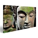 Cuadro Cuadros cabeza de Buda de cerca Impresión sobre lienzo - Formato Grande - Cuadros modernos...