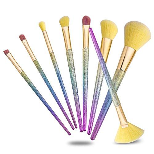 Fashion Base® 2017 8 pcs Fond de teint liquide Fard à paupières Pinceaux de maquillage Eyeliner Poudre blush Kabuki Brosse outils doux kit de pinceaux cosmétiques professionnel