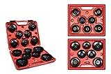 Vetrineinrete Chiavi per smontaggio filtro olio auto 14 pz boccole chiave a tazza varie misure in valigetta B48