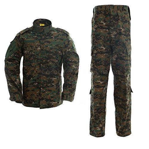 ALK Softair Paintball Tarn-Uniform Set, Jacke/Hose, Jungle digital, Large - Acu Digital-bdu Hose Hosen