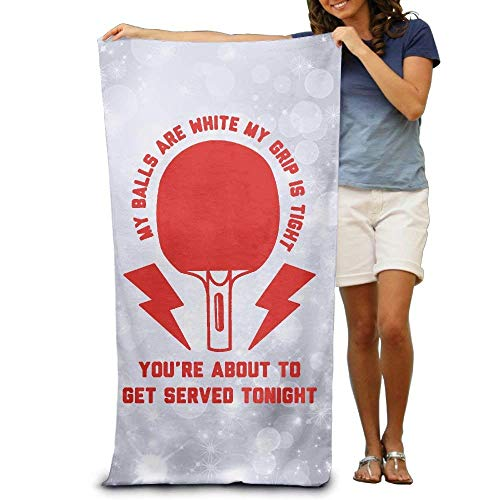 owel My Balls Are White My Grip is Tight Ping Pong Soft Lightweight Beach Towel Pool Towel 30x50 ()