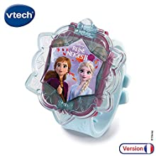 Vtech Frozen Elsa Interactive Watch with Educational Electronic Toys 80-518805 Multi-Coloured (French Version)