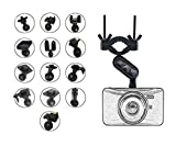 Shipeekin ultime Dash Cam support de miroir Rétroviseur support de fixation avec 13types joints kit d'adaptateur pour conduite DVR Caméra Caméscope/de vélo Supports de fixation pour GPS Caméra d'action