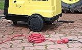 as - Schwabe 60210 Profi Verlängerungkabel 10m, Gummikabel H05RR-F 3G1,5 für Outdoor/Aussen, rot