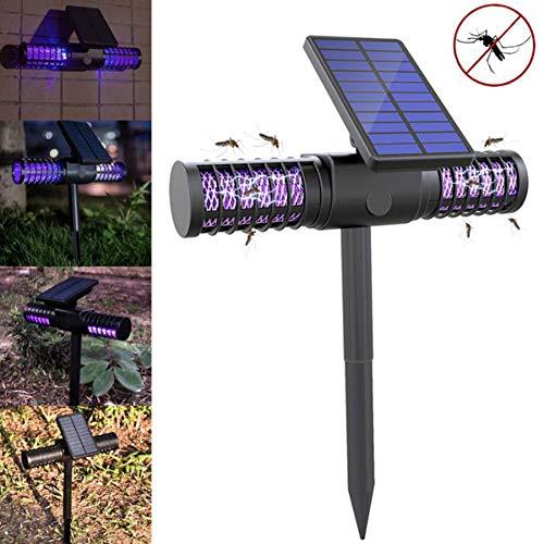 ZXCV Solar LED Outdoor Moskito Killer Lampe Wasserdichtes UV-Licht Hochspannungsnetz Ganze Nacht Schützen,Black -