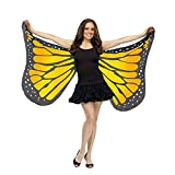 Vovotrade ✿✿Hot!!!Soft Fabric Butterfly Wings Shawl Fairy Ladies Nymph Pixie Costume Accessory (Orange2)