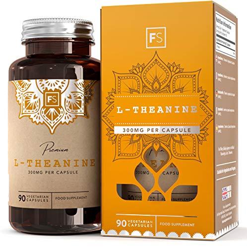 FS Reines L-Theanin [300 mg], ohne Füllstoffe und Bindemittel | 90 vegane Kapseln | Beruhigendes Nootropikum, entspannendes Nahrungsergänzungsmittel | Ohne Zusätze - Frei von GVO, Gluten & Milch -