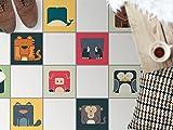 creatisto Fliesen-Bodendeko, Küchenfliesen   Bodenfliesen Sticker Aufkleber Folie Bad Küche Fussboden Fliesenmuster Badezimmer-Deko   32,5x32, Design Motiv Zoo-Maniac - 9 Stück