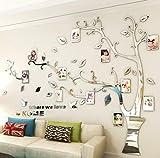 Asvert Stickers Autocollants Muraux 3D en Acrylique Arbre avec des Branches...