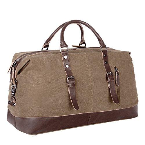 Eshow Herren Canvas Schulter Rucksack Umhaengetasche Backpack Sporttasche Reisetasche Schwarz