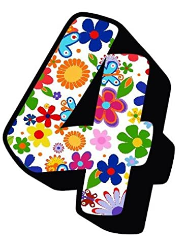 Flowers And Butterfly Number 4 Sticker / Autocollant Pour porte