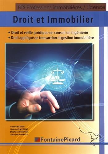 Droit et immobilier BTS professions immobilières/Licence