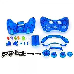 OSTENT Ersatzgehäuse Shell Buttons Kit kompatibel für Microsoft Xbox 360 Wireless Controller – Farbe Blau