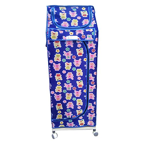 FULL SIZE Multipurpose Baby Kids Cartoon Printed Child Almirah Folding Cabinet Wardrobe Cupboard Organizer By KRIS TOY