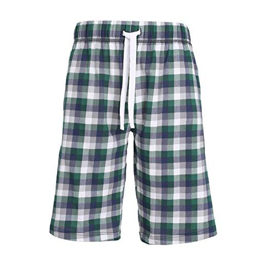 TOM TAILOR Herren Bermuda, Baumwolle, Single Jersey, grün, bedruckt 56 (Schlaf-hose Grüne Herren)