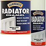 Hammerite Radiator White Aerosol Satin 400ml Brand New Fast Postage