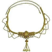 Matra Tono Oro piedra de acrílico Sari cinturón de cintura tradicional de Bollywood Kamarbandh joyería