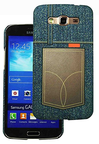 Heartly Jeans Style Printed Design High Quality Hard Bumper Back Case Cover For Samsung Galaxy Grand 2 G7102 G7106 - Brown Pocket  available at amazon for Rs.199