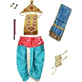 Fancy Steps Krishna Krishnaleela/Janmashtami/Kanha/Mythological Character Fancy Dress Costume For Kids (4-6 Years)