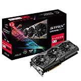 ASUS ROG-STRIX-RX580-T8G-GAM 8 GB Graphics Card (Radeon RX 580 TOP Edition GDDR5 PCI Express) - Black