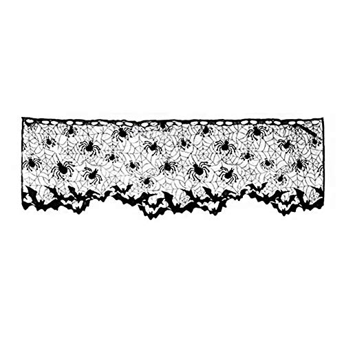 ration Lampenschirm Kamin Schal Spider Web Black Lace Cover Lampenschirm ()