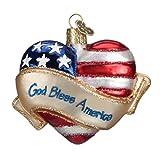 Die besten Alte Welt Weihnachten Weihnachtsbäume - Old World Weihnachten God Bless America Herz Glas Bewertungen