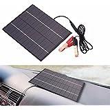 Lemonbest 5.5W 12V Solar Panel Battery Charging Board Polycrystalline Storage Energy Universal For Car Motorcycles Charger