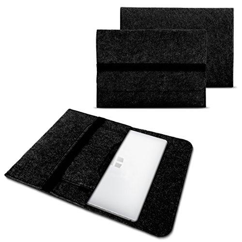 NAUC Laptoptasche Sleeve Schutz Tasche Hülle für Trekstor Primebook C11 Notebook Hülle Ultrabook 11,6 Zoll Laptop Filz Case, Farbe:Dunkelgrau