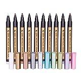 Homyl 10 Couleurs Marqueur Métallique Marqueur Bricolage Peinture Scrapbooking Pen Art Papeterie