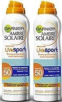 Garnier - Ambre - UV Sport - Brume FPS 50 - Peaux sensibles - Protection solaire très haut indice - 200 ml - Lot de 2