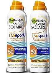 Garnier Ambre Solaire UV Sport Brume Sèche Protectrice Multi-résistance FPS 50 200 ml - lot de 2