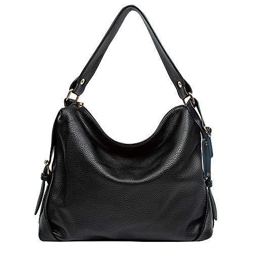 Leder Tasche, dddh Hobo Taschen Handtaschen Schulter Handtasche für Frauen schwarz